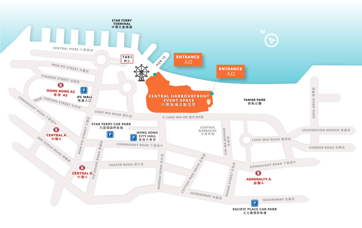 Event Floor Plan App: Central Harbourfront Event Space